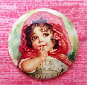 2.25 inch Classic Little Red Riding Hood button badge pin