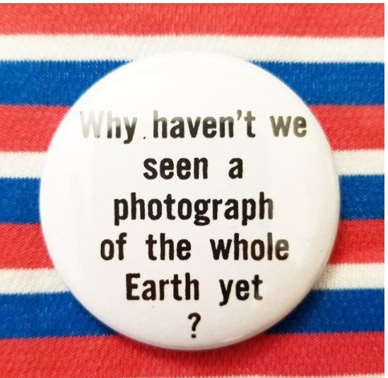 2.25 inch Flat Earth button badge pin