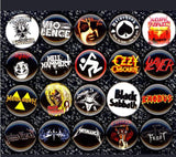 Heavy Metal buttons badge pins set of 20