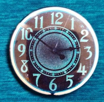 2.25 inch Neon Clock button badge pin