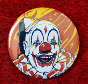 2.25 inch crazy clown button badge pin