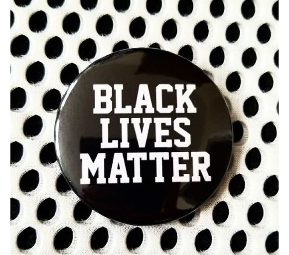 2.25 inch black lives matter button badge pin