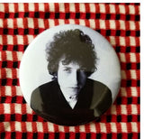 2.25 inch Bob dylan button badge pin