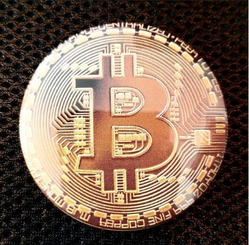 2.25 inch Bitcoin button badge pin