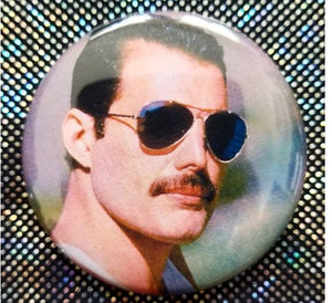2.25 inch Freddie Mercury button badge pin
