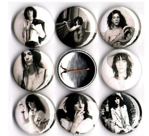 1 inch set of 8 Patti Smith buttons badge pins