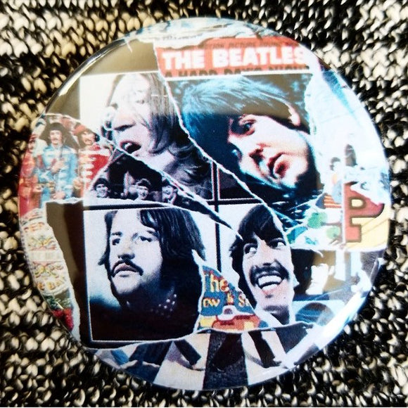 The Beatles Collage button badge pin