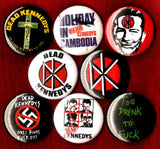 1 inch set of 8 Dead Kennedys buttons badges pins