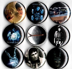 1 inch set of 8 Donnie Darko buttons badges pins