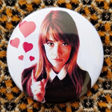 Françoise Madeleine Hardy button badge pin