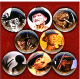 1 inch Freddy Krueger set of 8 buttons badge pins
