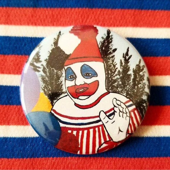 John Wayne Gacy Clown Painting button badge pin