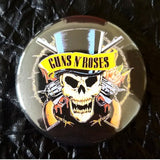 Guns and Roses button badge pin