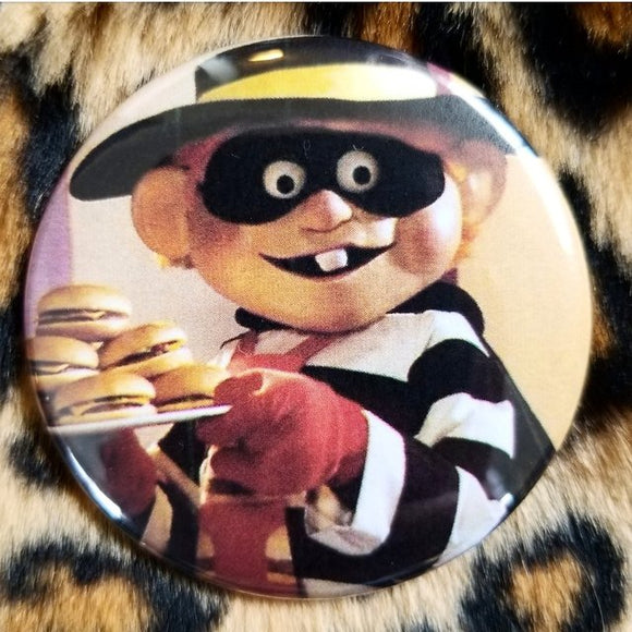 Hamburgerler button badge pin