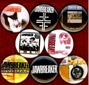 1 inch set of 8 Jawbreaker buttons badge pins