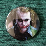 Joker button badge pin