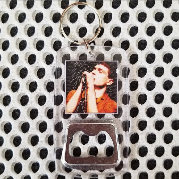 Joy Division clear bottle opener keychain