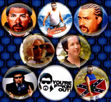 1 inch set of 8 Kenny Powers buttons badges pins