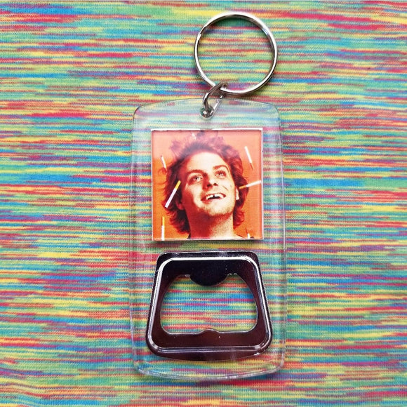 Mac Demarco clear bottle opener keychain