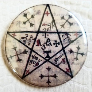 Occult button badge pin