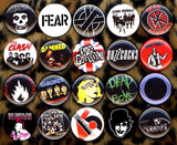 1 inch set of 20 Punk buttons badges pins