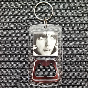 Shelley Duvall clear bottle opener keychain
