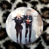 Sid and Nancy button badge pin