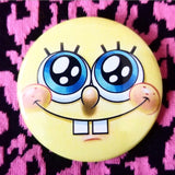 Yellow SpongeBob SquarePants button badge pin