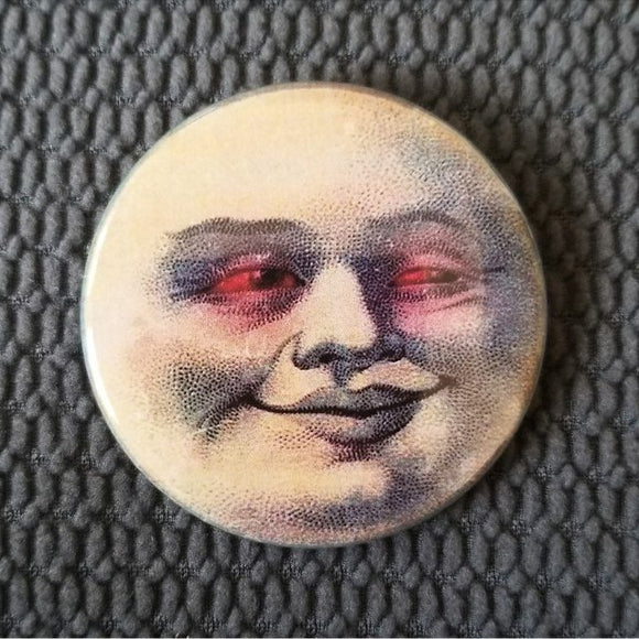 Stoner Moon button badge pin