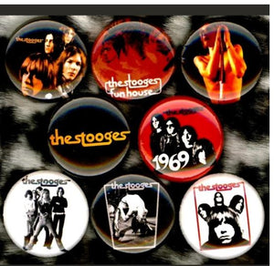 The stooges Iggy pop buttons badge pins set of 8