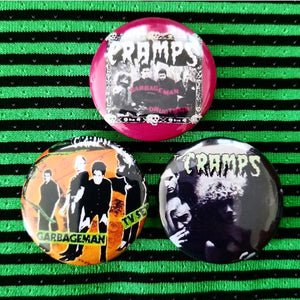 1.25 inch The Cramps set of 3 pins