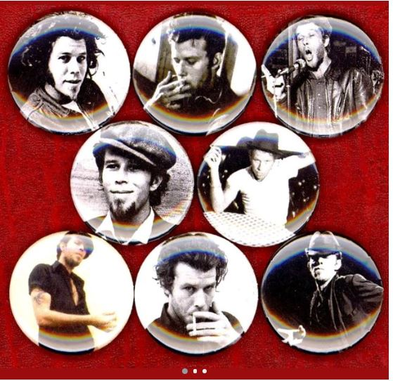 1 inch set of 8 Tom Waits buttons badge pins