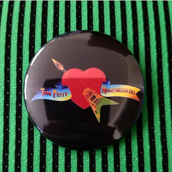 Tom Petty button badge pin