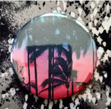 2.25 inch Palm Tree button badge pin