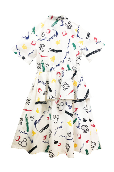 Graffiti Shirt Dress