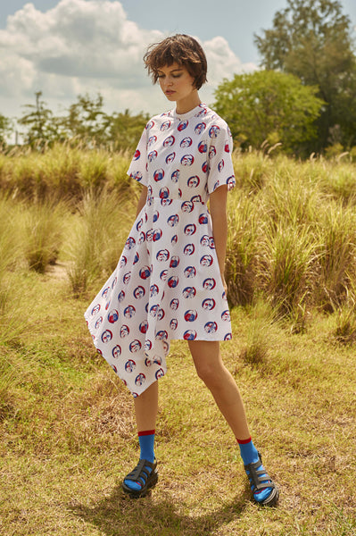 Polka Shirt Dress