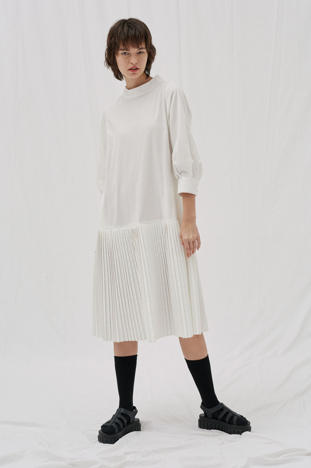 Wren Pleat Dress