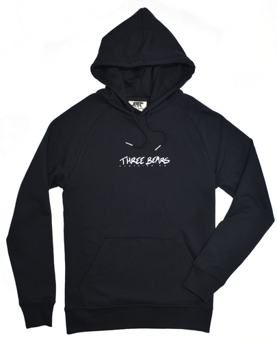 Three Bears Hoodie - Black