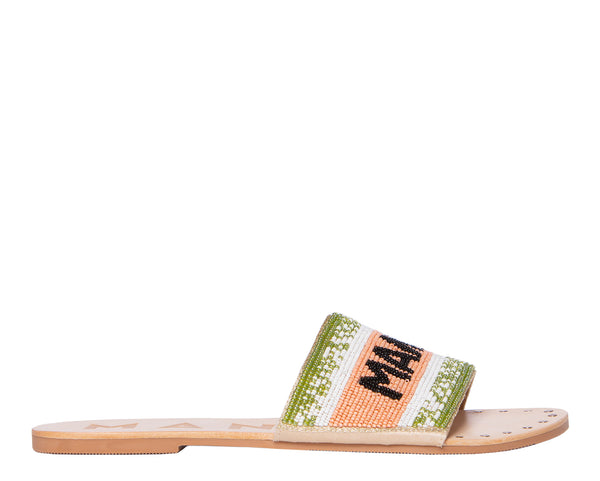 Leather Sandals - Hollywood - Rose Green Manebí Beach