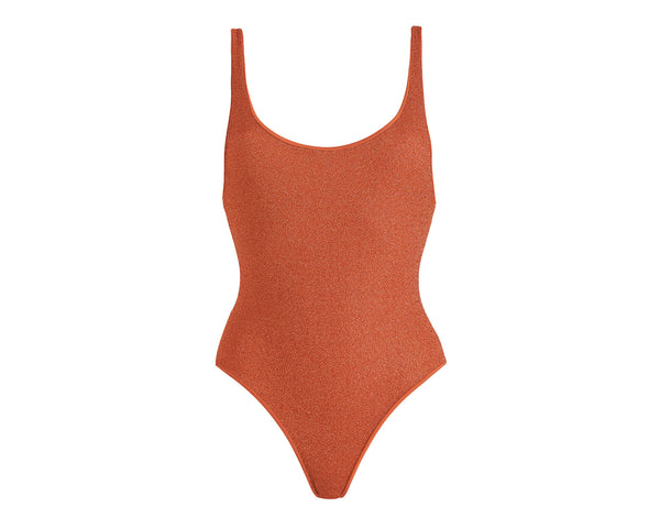 One Piece - Los Angeles - Burnt Orange Lurex