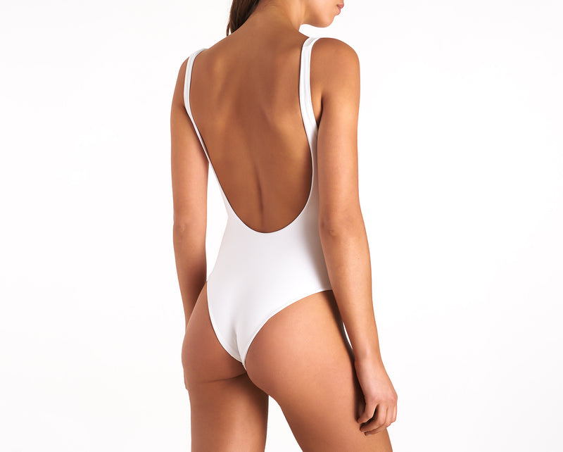 Cut-out One Piece - Hamptons - White