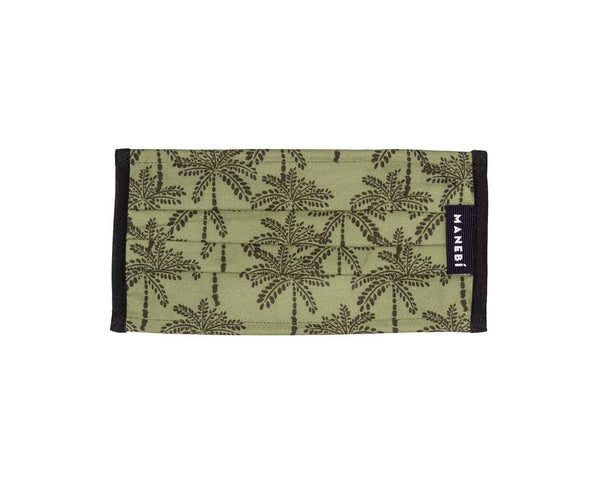 Face Mask - Kaki Green Palms