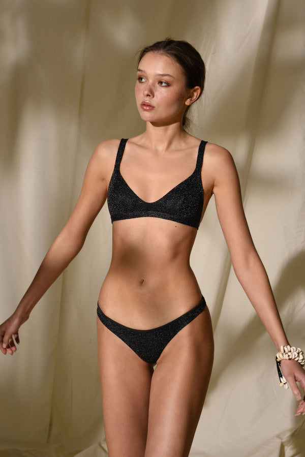 Surf Bikini - Los Angeles - Black Lurex