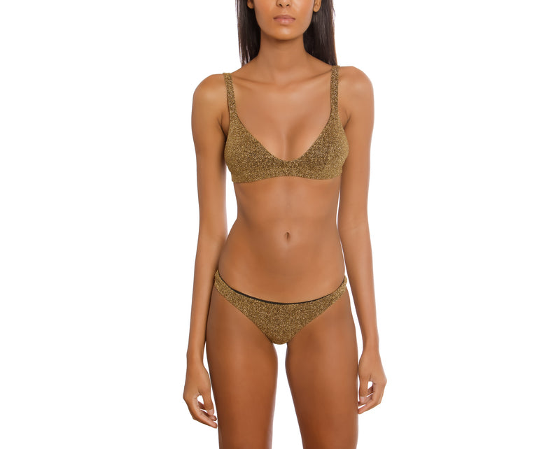 Surf Bikini - Los Angeles - Dark Gold Lurex
