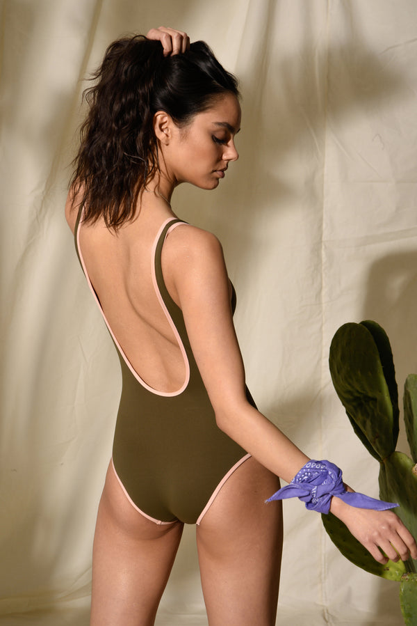 Ribbed One-Piece - Hamptons - Juniper Green