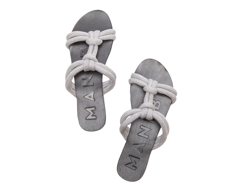 Leather Sandals - Hollywood - Silver
