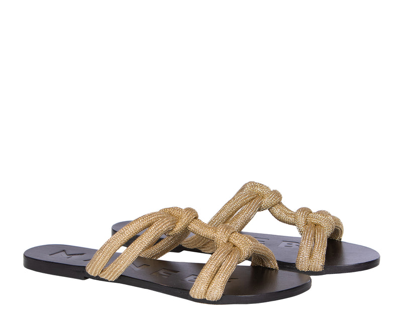 Leather Sandals - Hollywood - Gold