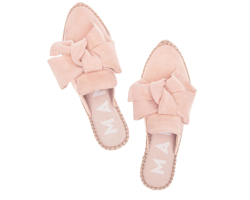Mules with Bow - Hamptons - Pastel Rose