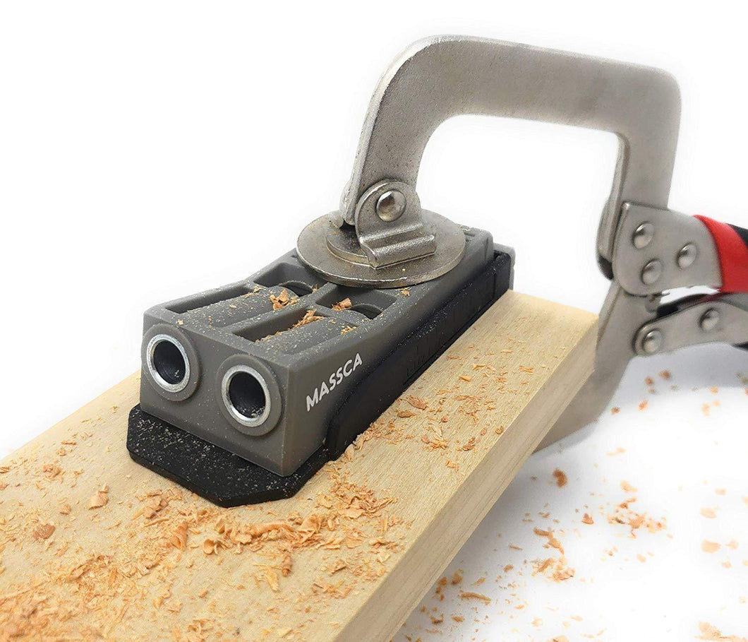 Massca Pocket Hole Jig. Perfect for Joinery Woodworking DIY Carpentry Projects. (Jig only)