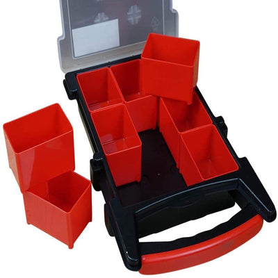 Massca Hardware Box Storage | 9 Compartment Perfect for tools, bolts, screws, tackle, parts, crafts, and many other items.